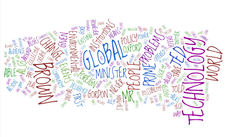 Wordcloud created by Wordle based on a news article